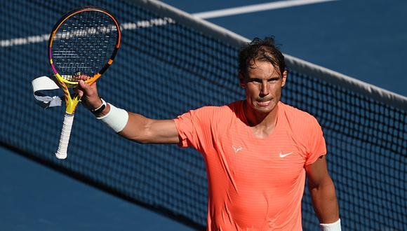 Rafael Nadal en el Australian Open.