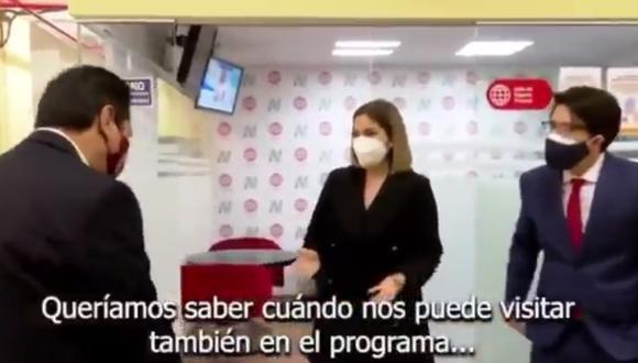 Vladimir Cerrón llegó a América Televisión para una entrevista en Canal N, por ello, los conductores de Cuarto Poder lo esperaron en la entrada y le pidieron una entrevista.