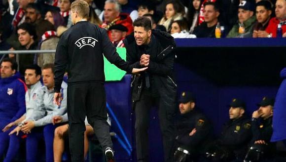 La UEFA castiga al 'Cholo' Simeone por gestos obscenos ante Juventus