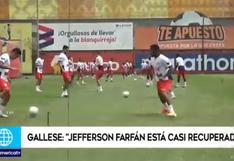 Jefferson Farfán: Pedro Gallese admitió que la 'Foquita' está casi recuperado   VIDEO