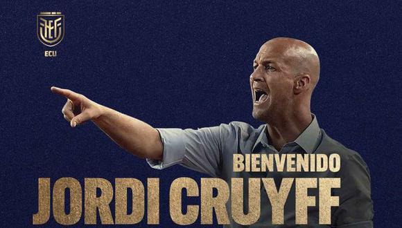 El holandés Jordi Cruyff, hijo del mítico Johan, dirigirá a a la selección de Ecuador. (Foto: AFP)