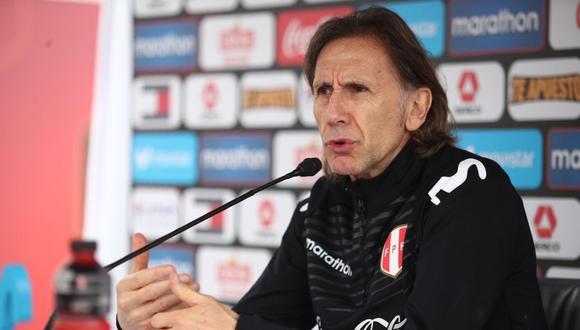 Ricardo Gareca conversó con la prensa sobre el presente de la Selección Peruana. (Foto: FPF)