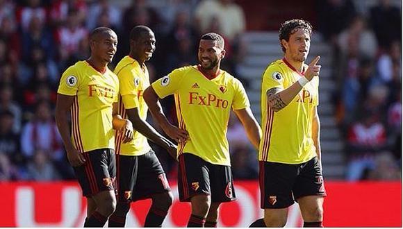 Con André Carrillo: Watford 2-1 Arsenal por la Premier League [VIDEO]