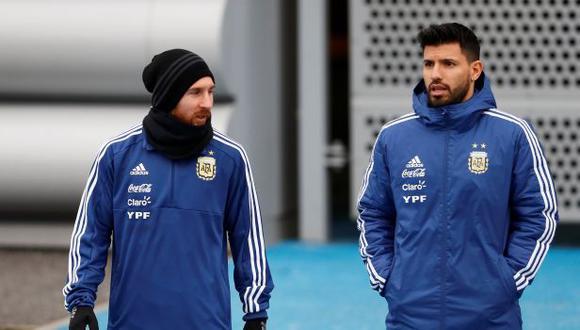 Messi y 'Kun' Agüero jugarán ante Colombia por las Eliminatorias a Qatar 2022. (Foto: AFP)