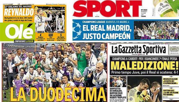 Prensa se rinde ante Cristiano Ronaldo y Zinedine Zidane [FOTOS]