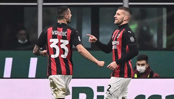 Rebic y Krunic, del Milan, positivos por coronavirus. (Foto: AFP)