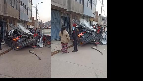 Así quedó la camioneta que impactó contra camión que estaba estacionado. (Foto:PNP)