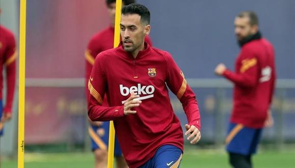 Sergio Busquets salió positivo por primera vez en Covid-19. (Foto: Barcelona)