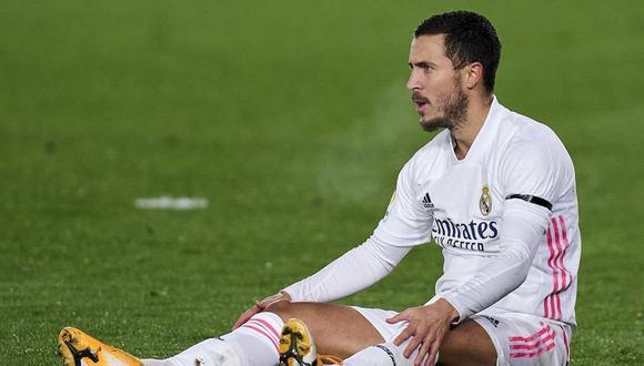 Real Madrid pagó más de 100 millones de euros por Eden Hazard, quien ha tenido una serie de lesiones. (Foto: AFP)