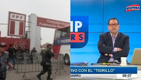 Phillip Butters sugiere al 'Tigrillo' Navarro que denuncie a la FPF