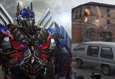 Transformers en Cusco: Optimus Prime y su impresionante choque en la ciudad de los incas | VIDEO