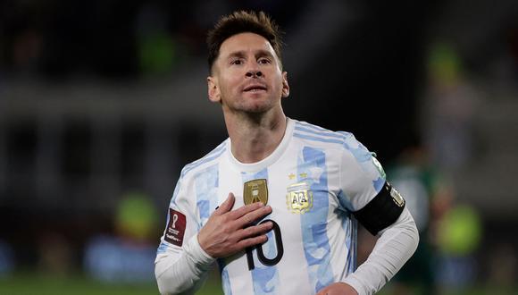 La alegría de Lionel Messi tras la victoria frente a Uruguay. (Foto: EFE)