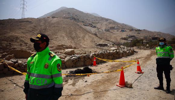 Encuentran cuerpo descuartizado y calcinado en Cineguilla, repartido por varios lugares de la zona. (Foto: Hugo Curotto/@photo.gec)