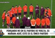 Así fue la charla de Zidene con los jugadores de Real Madrid antes de medirse a Atalanta | VIDEO