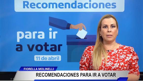 Elecciones 2021: Fiorella Molinelli dio recomendaciones para ir a votar.