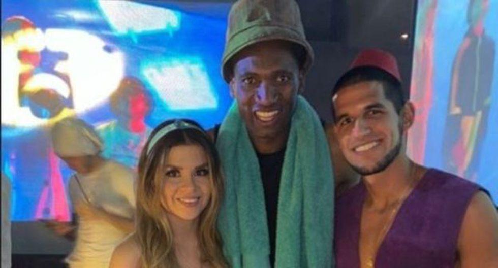 Luis Abram se disfrazó de Aladdin en fiesta de Vélez Sarsfield. (Instagram)