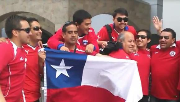 Perú vs Chile: Así alentaron los hinchas chilenos en la previa [VIDEO]