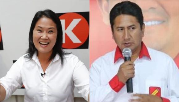 Keiko Fujimori pidió a Vladimir Cerrón que deje a Pedro Castillo debata con ella o en todo caso el expresidente regional de Junín lo haga en lugar del candidato de Perú Libre.