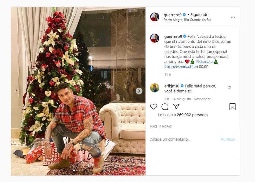 Paolo Guerrero, capitán de la selección peruana, ha deseado mucha prosperidad a todos sus seguidores. El delantero sigue recuperándose de una lesión para volver en el 2021.