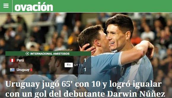 Perú - Uruguay | Así informó la prensa internacional el empate de la selección peruana | FOTOS