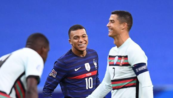 Cristiano Ronaldo fue la referencia de Kylian Mbappé desde niño, (Foto: AFP)
