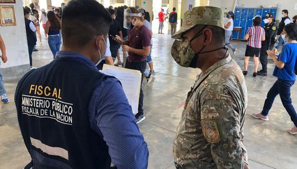 Los fiscales realizaron acciones de control a nivel nacional, en coordinación con los miembros de la Policía Nacional y las Fuerzas Armadas. (Foto: Ministerio Público)