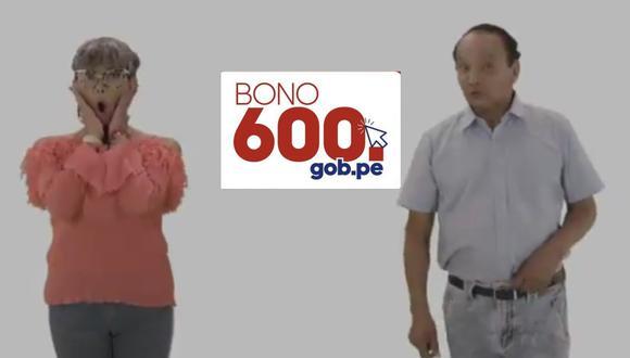 Ambos personajes forman parte de un nuevo video del Estado donde explican paso a paso cómo cobrar el bono 600.