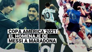 Lionel Messi celebró su primer gol de Copa América 2021 como Maradona