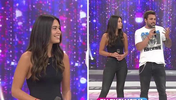 Alejandra Campaña y Nicola Porcella tienen una relación de seis meses y hace unos días se hicieron un tatuaje juntos. (Fotos: Captura de América TV).