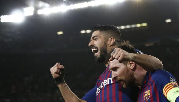 Lionel Messi se despidió de Luis Suárez mediante las redes sociales. (Foto: AFP)