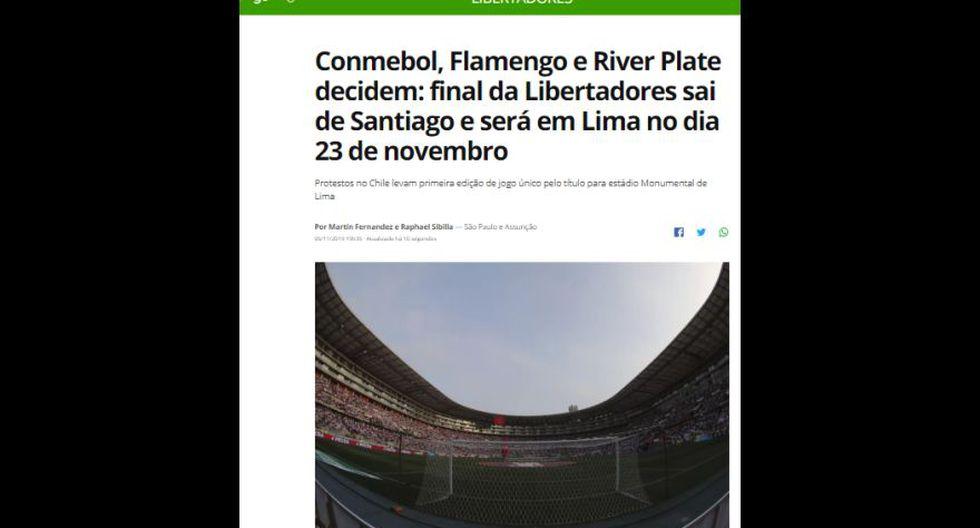 Globo Esporte (Brasil).