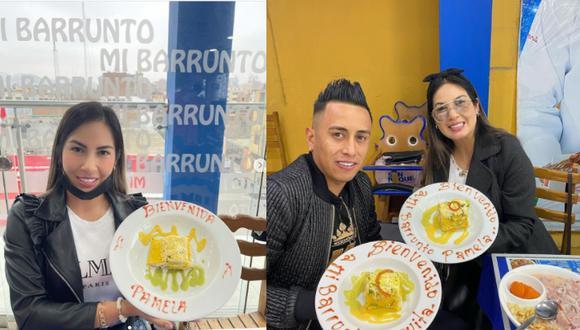 La pareja aprovechó en comer en un conocido restaurante del distrito de La Victoria. Foto: Instagram