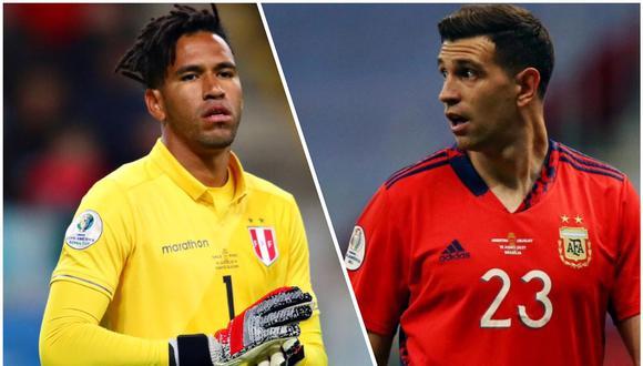 FIFA abrió encuesta con Pedro Gallese y Emiliano Martínez. (Foto: EFE/Composición)
