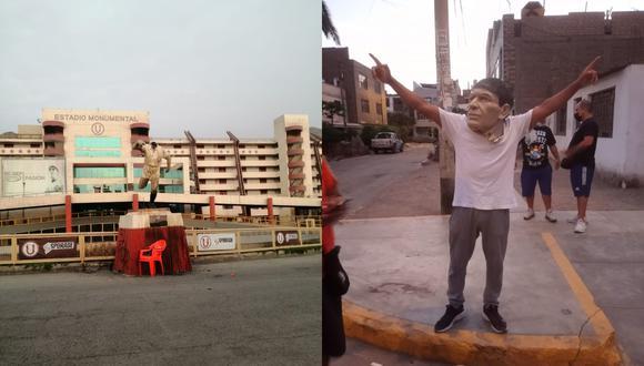 Delincuentes que ingresaron al estadio Monumental luego posaron con la cabeza destruída de Lolo Fernández.