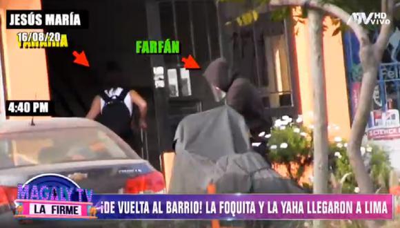 Jefferson Farfán ingresó a la casa de Yahaira Plasencia. (Foto: Captura ATV)