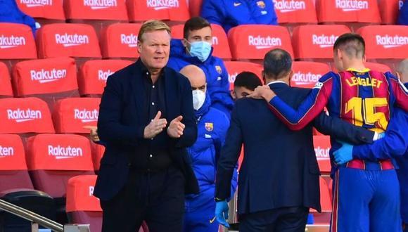 Ronald Koeman y su reacción tras goleada de Barcelona (Foto: AFP)