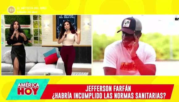 La conductora de televisión habló sobre el tema de Jefferson Farfán y advirtió que a todos los futbolistas se les debe de medir con la misma vara