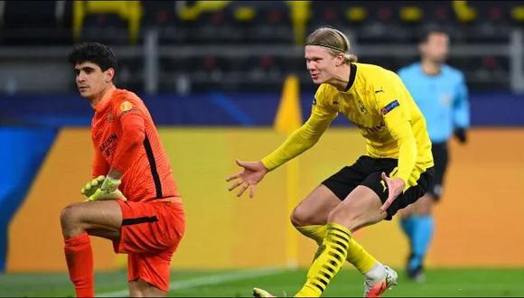 Erling Haaland anotó un doblete en el Borussia Dortmund vs. Sevilla. (Foto: Agencias)