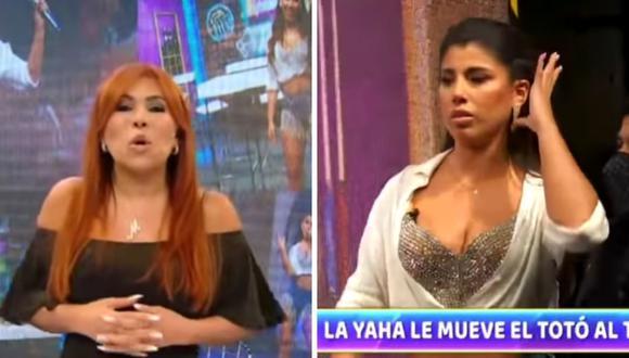 Magaly Medina cuestionó la actitud de Yahaira Plasencia en el espacio de Jorge Benavides. (Foto: Captura YouTube).