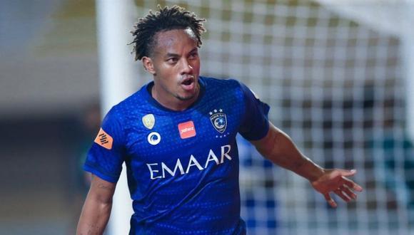 André Carrillo anota gol para Al Hilal  (Foto: @alhilalfc)