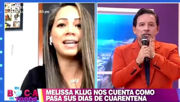 Melisssa Klug cuenta detalles de sus días en tiempos de coronavirus. (Foto: Captura América TV)