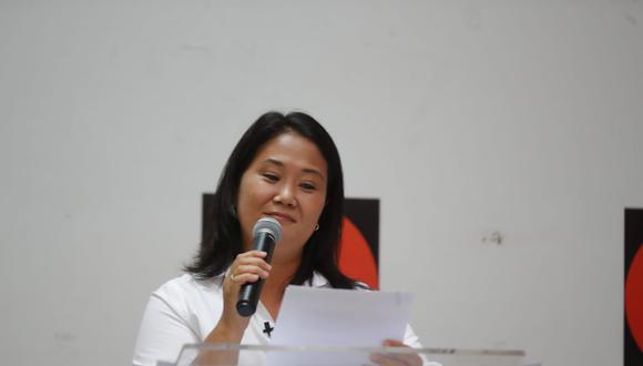 Keiko Fujimori confirma que no pretende atacar a Pedro Castillo, sino debatir con las propuestas que ambos manejan. (Foto: Giancarlo Avila /@photo.gec)