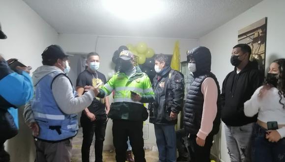 Policías y serenos intervinieron a 30 menores en una fiesta COVID-19. (Municipalidad del Callao)
