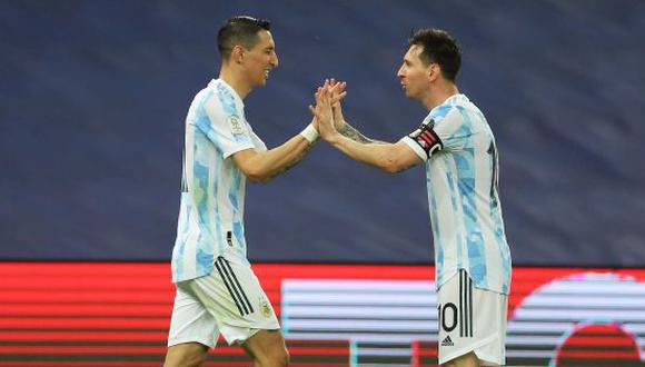 Angel Di María marcó el tanto de Argentina. (Foto: Twitter)