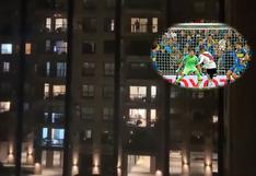 Coronavirus en Argentina | Fanático de River Plate pone el relato del gol de Quintero a Boca en la final de la Libertadores 2018 y muchos vecinos lo gritan [VIDEO]