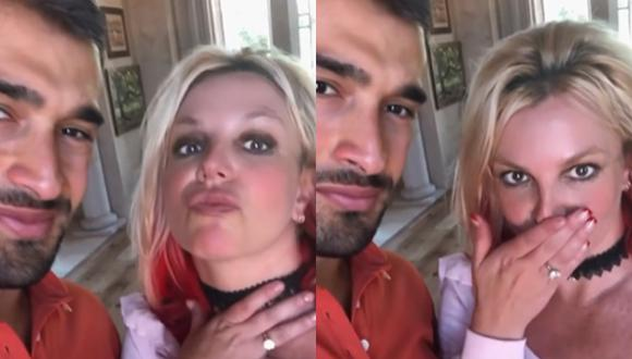 Britney Spears y Sam Asghari se comprometen. (Foto: @britneyspears).
