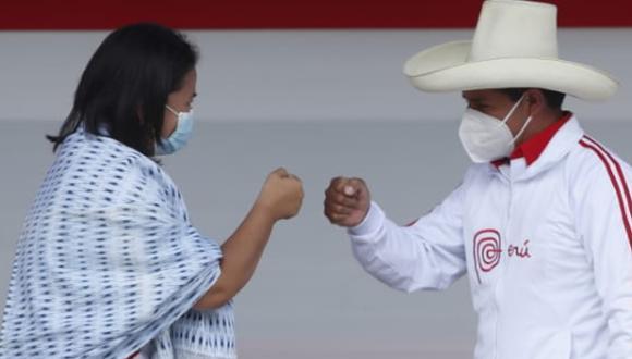 Keiko Fujimori pide a Pedro Castillo debatir el sábado en puerta del penal Santa Mónica  (Foto: GEC)