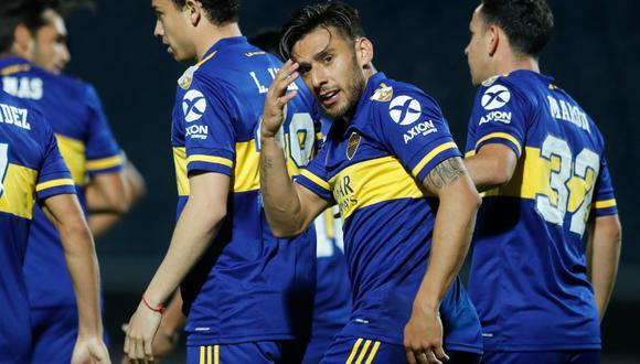 A los 6′,el Toto Salvio aprovechó un rebote del arquero de Libertad para poner el primero del partido por la Copa Libertadores 2020. FOTO: AFP