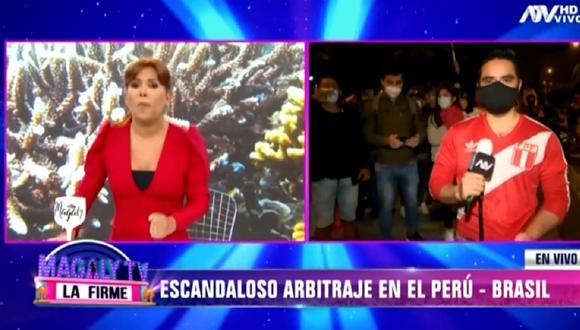 Magaly Medina lanza dura crítica a Julio Bascuñán, árbitro que dirigió el reciente partido de la selección peruana. (Foto: Captura ATV)