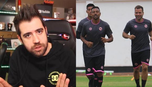 El youtuber español envió un gran saludo a la plantilla de Sport Boys y deseó que sean los campeones para esta temporada 2021.